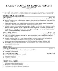 Bank Branch Manager Resume Branch Manager Resume Sle 28 Images Retail Resume Sa Sales