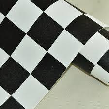papier peint vinyl cuisine noir et blanc treillis vinyle papier peint rouleau pvc étanche