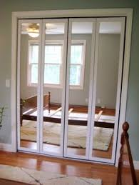 Frameless Mirror Bifold Closet Doors Create A New Look For Your Room With These Closet Door Ideas