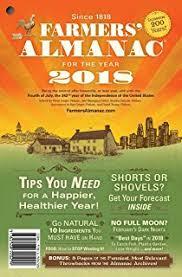 amazon com the old farmer u0027s almanac 2018 9781571987358 old