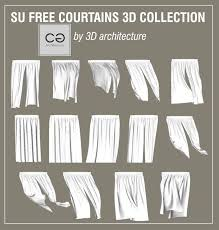 sketchup free curtains 3d collection for you shared by 3d