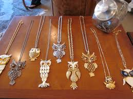 vintage owl necklace jewelry images Sandi pointe virtual library of collections jpg