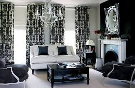 Black And White Curtain Designs Bedroom And White Living Room Ideas Black Rooms Images View