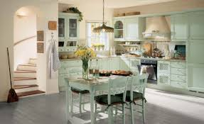 Vintage Kitchen Furniture Retro Style Kitchen Design With Corner Green Kitchen Cabinet And