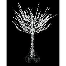 8 foot led christmas tree white lights home accents holiday 8 ft led pre lit bare branch tree with white