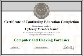 examples of certificates of completion certificate of completion cybrary