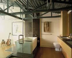metal ceiling design bathroom contemporary with metal beams