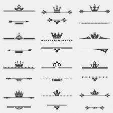 ornaments with crowns vector free