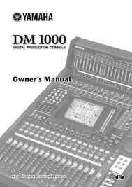 yamaha manuals yamaha dm1000 user manual