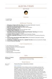 business resume exles operations analyst resume sles visualcv resume sles database