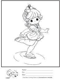 kids coloring page precious moments ballerina coloring sheet