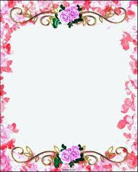 wedding design template vintage border template free floral decorative