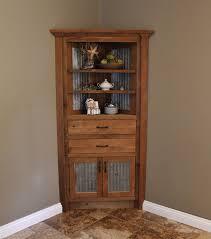 reclaimed wood curio cabinet corner kitchen curio cabinet awesome rustic corner cabinet reclaimed