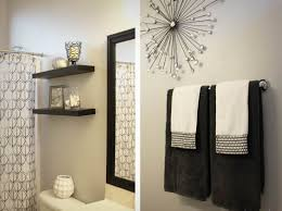 simple black white and red bathroom decorating ideas home design