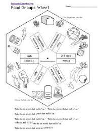 match food groups worksheet health pinterest food
