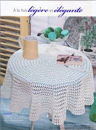 Crochet Table Cloth Dining Room Round Pineapple Table Cloth Crochet Pattern Design 684