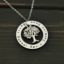 personalized family tree necklace online shop custom name necklace personalized family tree pendent