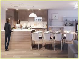kitchen island table combination interior design