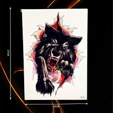 high quality wolf tattoo designs promotion shop for high quality