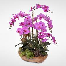 silk orchids real touch phalaenopsis silk orchids with succulents in