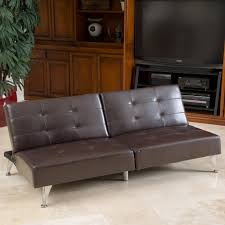 Oversized Leather Sofa Alston Click Clack Oversized Convertible Faux Leather Sofa By