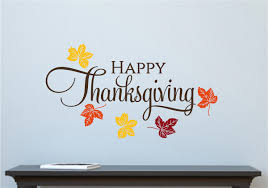 happy thanksgiving leaves fall autumn decor vinyl decal wall