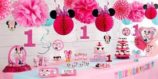 baby minnie mouse 1st birthday minnie mouse 1st birthday party supplies party city