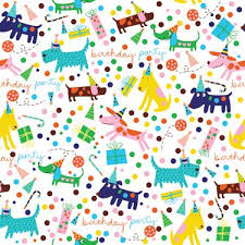 barkday birthday gift wrapping paper roll 24 x 16