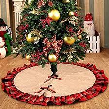 christmas tree skirts sidonia cotton and jute ruffled decor