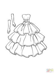 bride coloring pages dress print barbie prom fashion dress