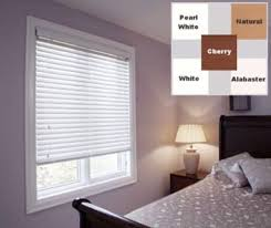 2 Faux Wood Blinds White 2