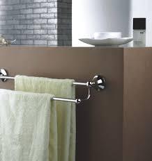 amazing two yellow towels of aluminium bathroom towel bars at