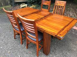 brand new ex display solid acacia extending kitchen dining table