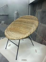 saucer chair cover swivel saucer chair newly restored rattan saucer chair
