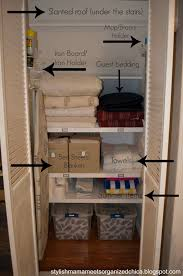 stylish meets organized part 2 under the stairs linen closet