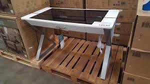 tresanti sit to stand power height adjustable tech desk tresanti sit to stand tech desk power height adjustable