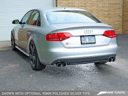 silver audi s4 awe tuning audi s4 3 0t touring edition exhaust chrome silver