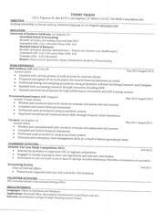 Usc Resume Template Buad 302t Spring 2014 Leventhal Resume Template