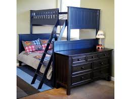 Bunk Bed WIth Twin  Full Combination Mushroom Furniture - Navy bunk beds