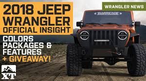 new 2018 jeep wrangler jl details leaked colors engine