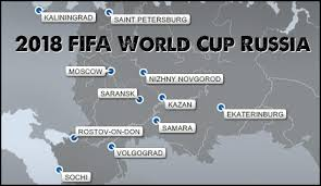 russia world cup cities map fifa world cup 2018 russia