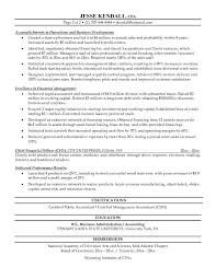 Financial Resume Example by Free Chief Financial Officer Cfo Resume Example