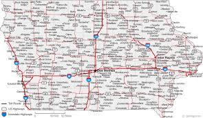 road map of iowa usa map of iowa cities iowa road map