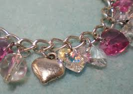 bracelet charm crystal images Crystal heart charm bracelet video tutorial jpg