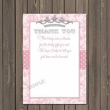 printable thank you cards princess princess baby shower thank you card princess thank you card little