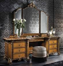 Antique White Makeup Vanity Furniture Home Square Mirror With Lights On Makeup Vanity Table