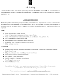 Landscaping Skills Resume Landscape Architecture Cover Letter Gallery Cover Letter Ideas