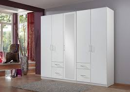 fly armoire chambre armoire 5 portes 4 tiroirs fly blanc