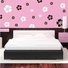 Flower Wall Art Design Floral Wall Decals Trendy Wall Designs - Flower designs for bedroom walls