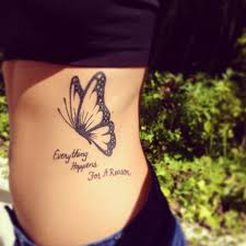 not a huge fan of butterfly tats but i like this one saying is